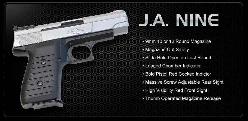 Jimenez Arms JA NINE 9mm Pistol $159 99